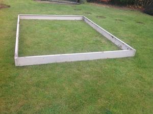 Aluminium greenhouse stand or plinth.