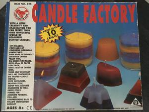 Candle making set and loads of extra waxes and dyes