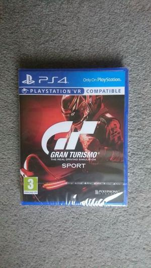 GRAND TURISMO SPORT PS4 PLAYSTATION 4 PRO BRAND NEW & SEALED