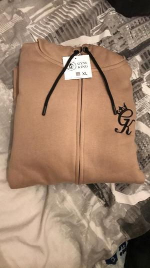 Jogging suit in beige extra large