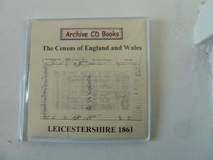 Leicestershire  Census on CD with index