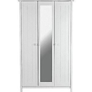 New Scandinavia 3 Door Mirrored Wardrobe - White