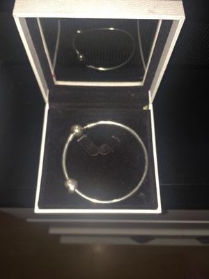 Pandora bangle sterling silver