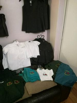 Asortmant of girls school clothes +kirklington uniform