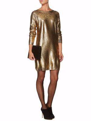 BIBA Gold Dress, Size 12 BNWT £30