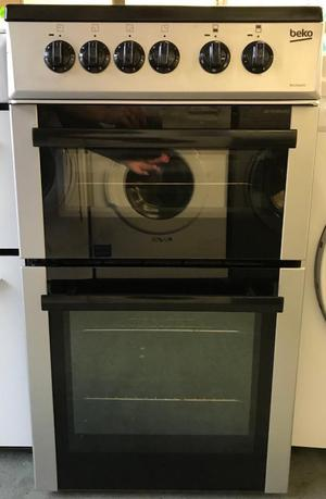 Beko silver electric 50cm cooker like new free delivery