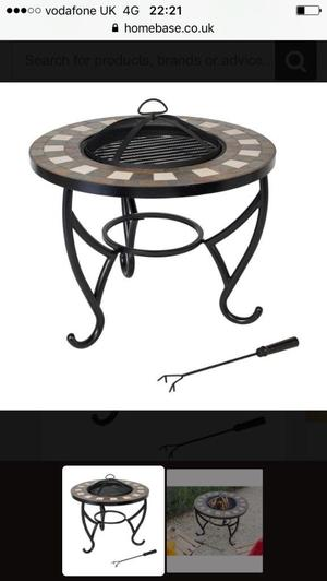 Brand new fire pit also BBQ