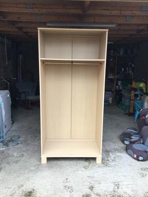 2 door single wardrobe