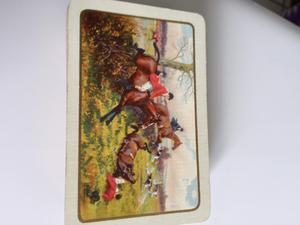 Antique s set waddingtons Linen playing cards of racing horses in box.