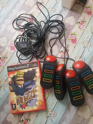 Buzz game with remotes for ps2