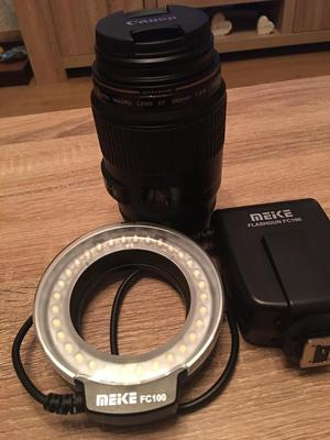 Canon macro lens and flash ring