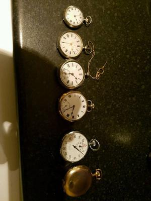Collection of old pocket watches