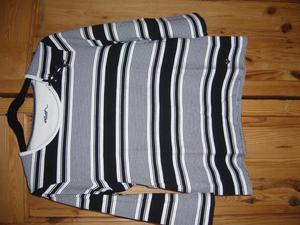 Dash black and white striped top