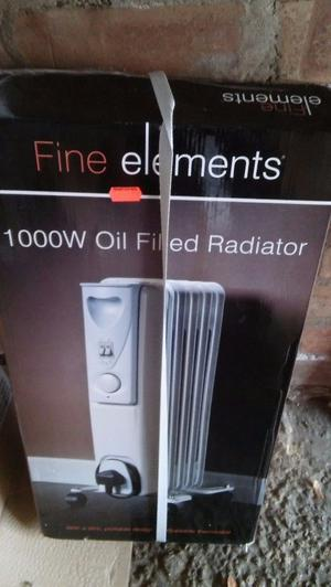 Electric oil filled heater.