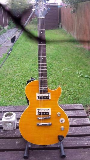 Epiphone Les Paul afd. 30w amp and distortion pedal