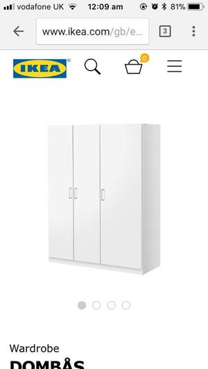 IKEA 3 door wardrobe
