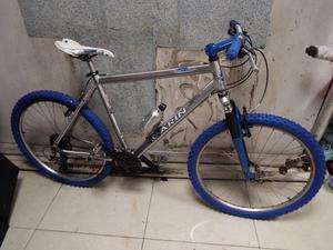 Marin Hawkhill Mountain bike customised, chrome/Blue Aluminium