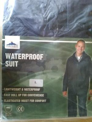 Portwest Waterproof Suit Jacket & Trousers Size L