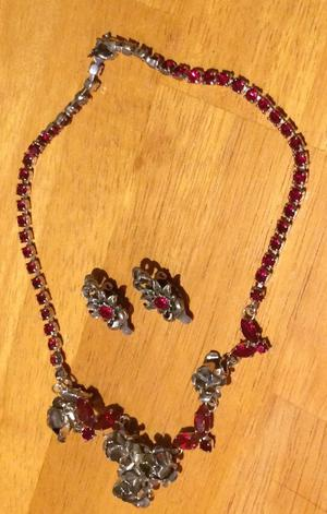 Two nice Necklace and Earring sets and a Gold Plated Bracelet