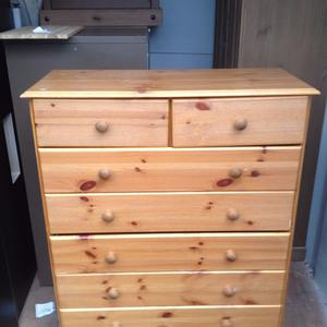 large pine chest of drawers needs attention very cheap to clear in storage unit £15 free delivery