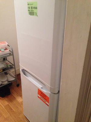 A used Fridge Freezer for sale in good condition, Size H, W50.1, D54cm.