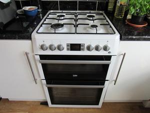 Beko freestanding dual fuel cooker