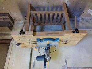 Mitre saw and work bench
