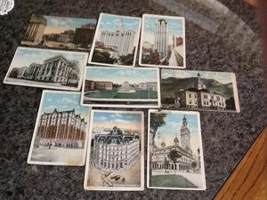 12 postcards on American buildings...mainly New York