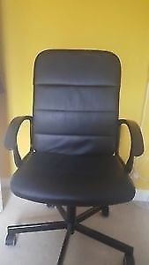 For sale a used Black Ikea Torkel Faux Leather Executive/Managerial Chair with Arms
