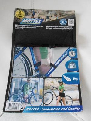 Mottez Universal Bike Transport Handle. Black.