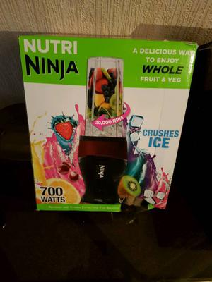 NUTRI NINJA BLENDER/SMOOTHIE MAKER RRP £35