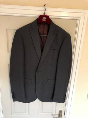 Next Suit - Jacket: 38R. Trousers: 32R. Charcoal. Grey.