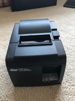 Star TSP 100 POS Thermal Receipt Network Printer with power lead - EPOS Printer