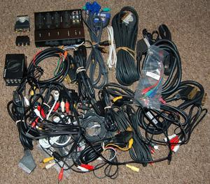 Assortment of TV & Audio Cables