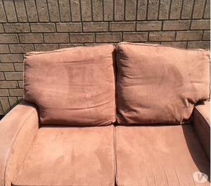 Chocolate Suede Sofas for quick sale