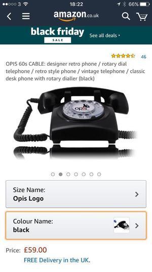 £5 for designer 60s retro phone