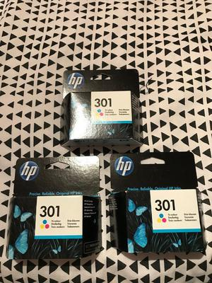 HP 301 Ink - brand new boxed & sealed. Qty 3