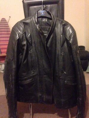 Mens Leather motorcycle jacket UK size 48