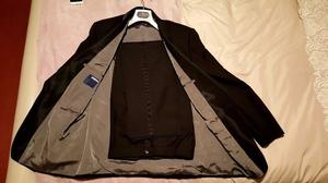 Mens black dinner jacket and matching trousers (tuxedo)