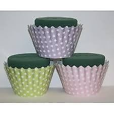 OASIS SMALL POLKA DOT PATTERN CUP CAKES FOAM 6 IN A BOX GREAT FOR TABLE FLOWER DECORATION