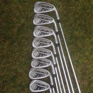 Ping i20 Golf Irons 4 - PW + AW (8 irons) Stiff CFS Steel shaft yellow dot **WILL POST**