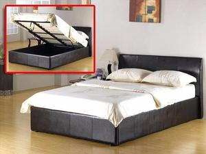 *CHEAPEST PRICE* WOW BRAND NEW GAS LIFT UP STORAGE Double LEATHER BED & MEMORY FOAM MATTRESS