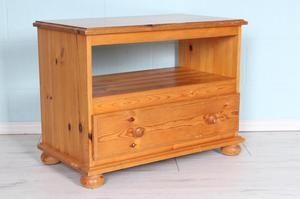 FREE LOCAL DELIVERY - PINE TV UNIT WITH LARGE DRAWER