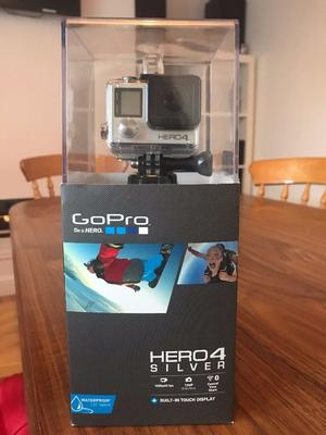 Go Pro Hero 4 Silver, used once, perfect condition + Go Pro 3 way grip/arm/tripod + 68gb sd card