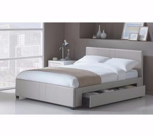 Hygena Keating 1 Drawer Latte Bed Frame - Kingsize