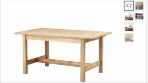 Ikea norden dining table used but in great posot class for Table norden ikea