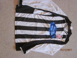 Mens black/white football shirts x 12 Various sizes mostly large men