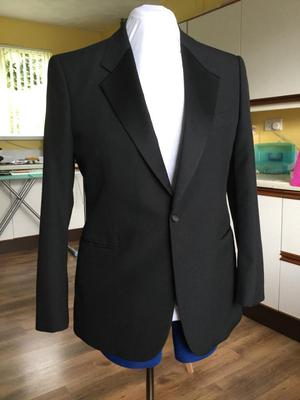 Mens dress suit, shirt and bow tie