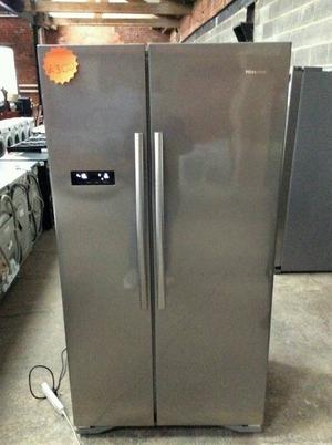 Stainless Steel A+++ Class Hisense Double Door American Style Fridge Freezer £300