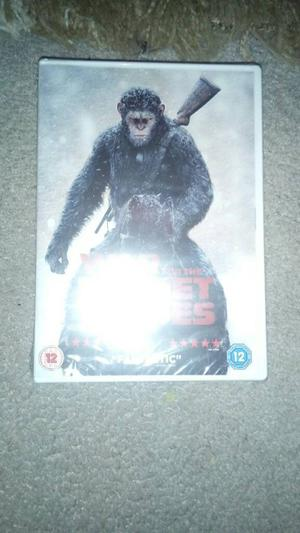 War for the planet of apes and dawn of the planet of apes £15